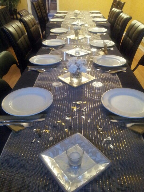 Dinning table set Great Gatsby party