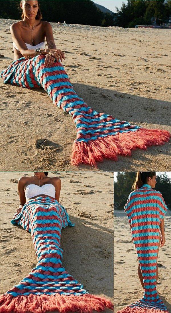 Tassel Mermaid Blanket Crochet Blanket Mermaid Tail Blanket Sofa Blanket tassel mermaid blankets, crochet mermaid blankets, mermaid tail, colorful blankets