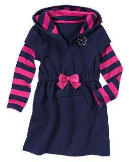 Gem Fleece Terry Hoodie Dress
