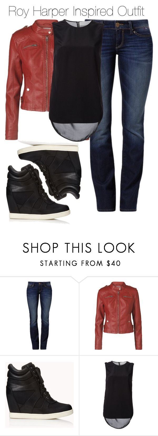 """""""Arrow - Roy Harper Inspired Outfit"""" by nathj ❤ liked on Polyvore featuring Mavi, Vero Moda, Forever 21, Thakoon Addition, leatherjacket, Arrow, sneakers and royharper"""