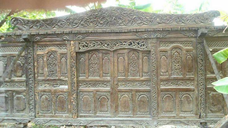 Javanese Primitive Panels.  Made of teak. Good Carvings.