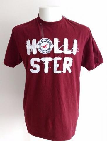 Camiseta Hollister Bordada Vinho