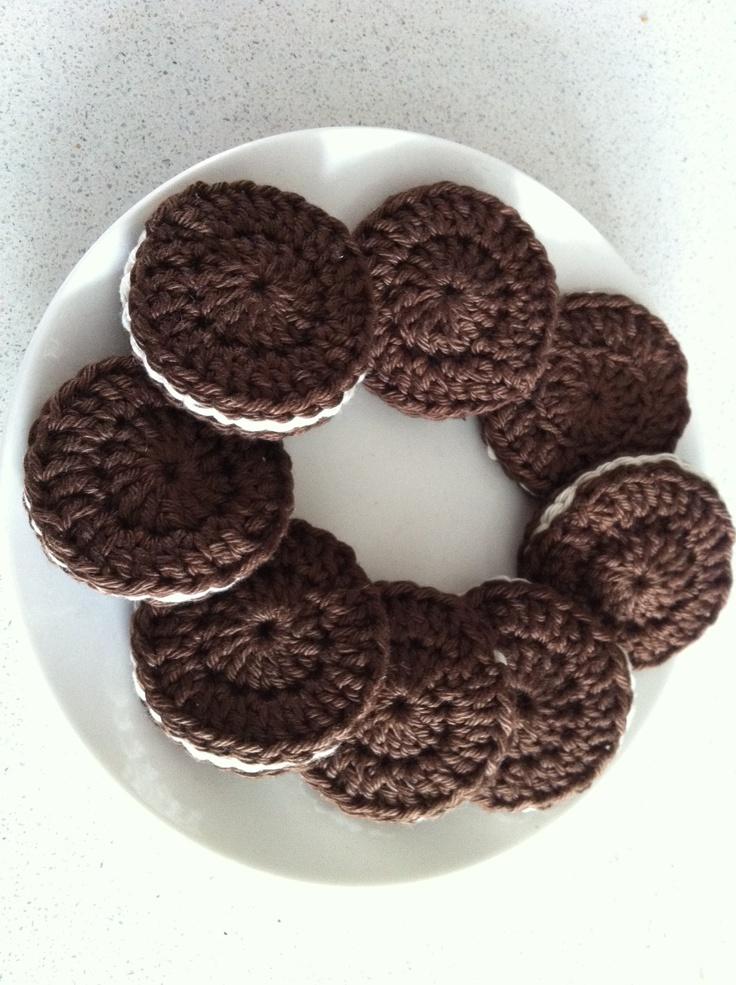 Oreo Cookies for Saskia #crochet #food #crafts