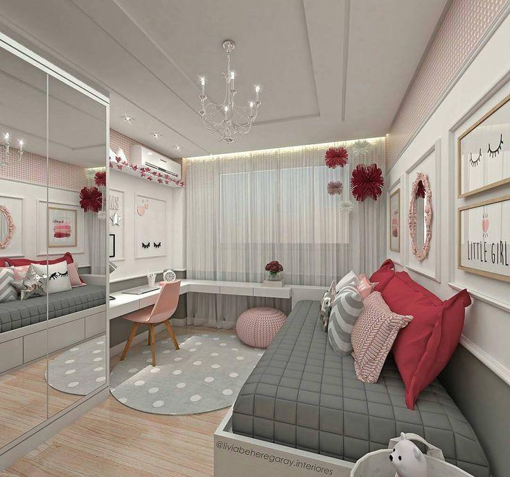 Inspiração linda de quartinho de menina  #festejandoemcasa #quartofc Regrann @liviabeheregaray.interiores
