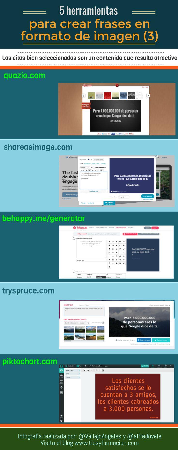 5 herramientas online para crear frases en formato de imagen (3) #infografia #citas #quotes