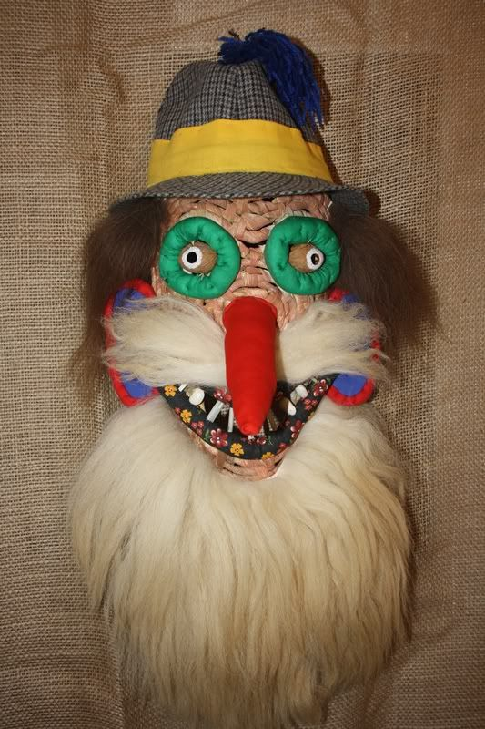 Romanian Traditional Mask. These masks were used in traditional dances to scare off any evil spirits that might linger in the village.