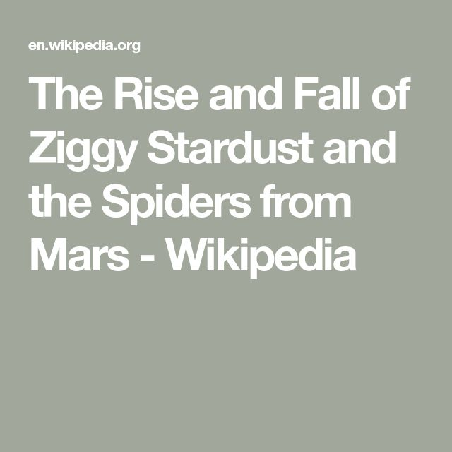 The Rise and Fall of Ziggy Stardust and the Spiders from Mars - Wikipedia