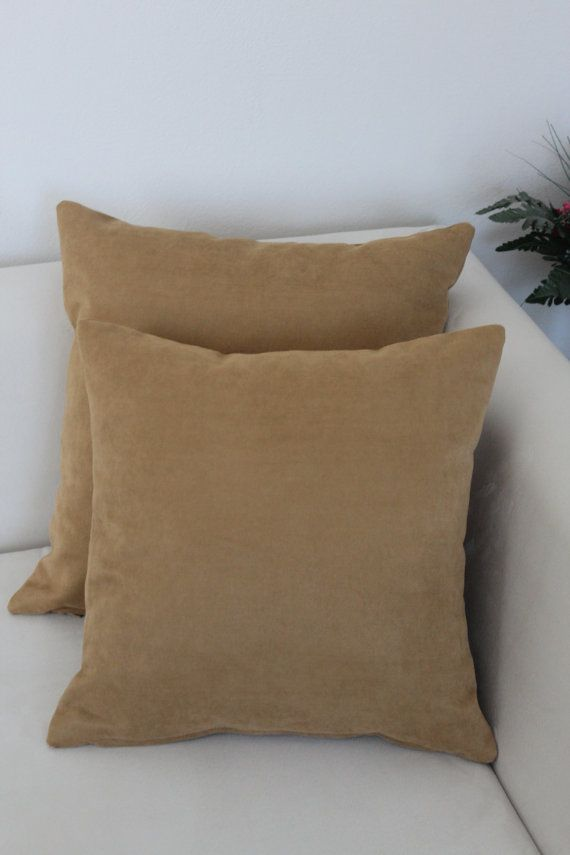 Set of 5, Decorative Caramel Pillow Cover Set, Living Room, Bedroom on Etsy, $53.00