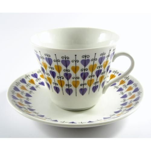 """""""Hjärta"""" motif cup, Rörstrand, 50's"""