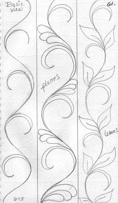 LuAnn Kessi: From My Sketch Book... Ideas for vines to be painted on the tent or the floor for the tent.