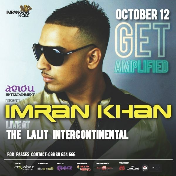 Imran Khan, the Dutch born singer of Pakistani heritage who popularized Punjabi music globally is all set to perform in Mumbai. The singers super hit tracks 'Amplifier' and 'Bewafa' were a rage in India when they released and still continue to be admired. Imran is to perform all the songs from his mega hit album 'Unforgettable'.www.buzzintown.com/mumbai/event--live-concert-imran-khan-amplifier-bewafa-fame/id--681261.html