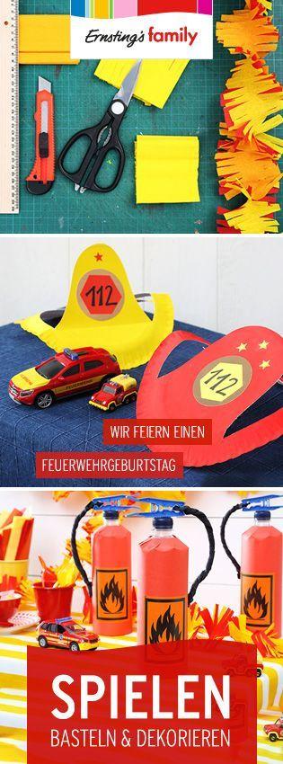 Feuerwehr-Geburtstag! Alles rund um selbstgebastelte Deko, Spiel- und Bastelidee sowie Tipps fürs Buffett.