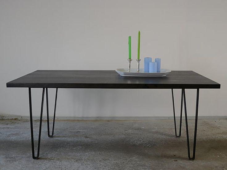 Esstisch Massivholz/Schreibtisch Massivholz   Dieser Esstisch/ Schreibtisch  Im Industrie Design Hat Eine Tischplatte Die Aus Massiven Stammbohlen Der  ...