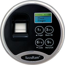 SecuRam - ScanLogic - Optical - Electronic EntryPad with Biometric Scanner (KEYPAD ONLY)