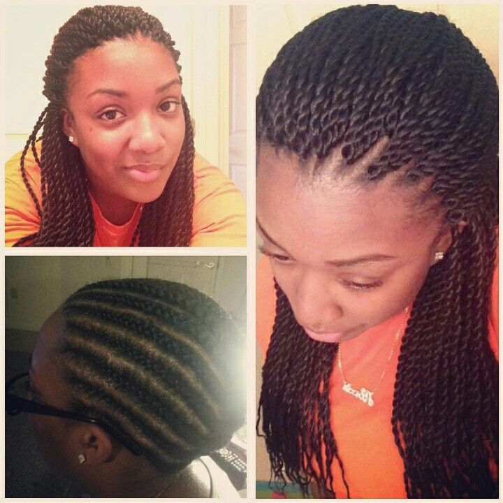 100% Crocheted Senegalese twists. I did not pre-twist the hair. #CrochetBraids #CrochetSenegalese