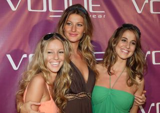 Gisele and Gabriela Bundchen. Pictured here with her sister Rafaela, supermodel Gisele shares her incredible genes with her twin Gabriela.