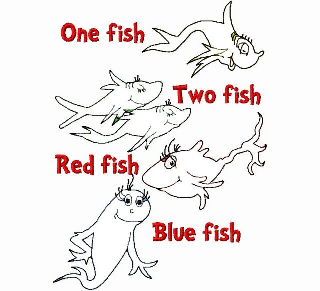 Dr Seuss One Fish Two Fish Craft Coloring Page In 2020 Dr Seuss Coloring Pages Fish Coloring Page One Fish Two Fish