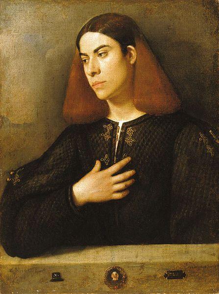 Giorgione (Giorgio Barbarelli da Castelfranco) ~ Portrait of a Young Man, c.1510