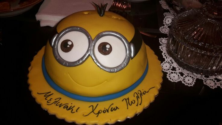 My little minion b-day cake