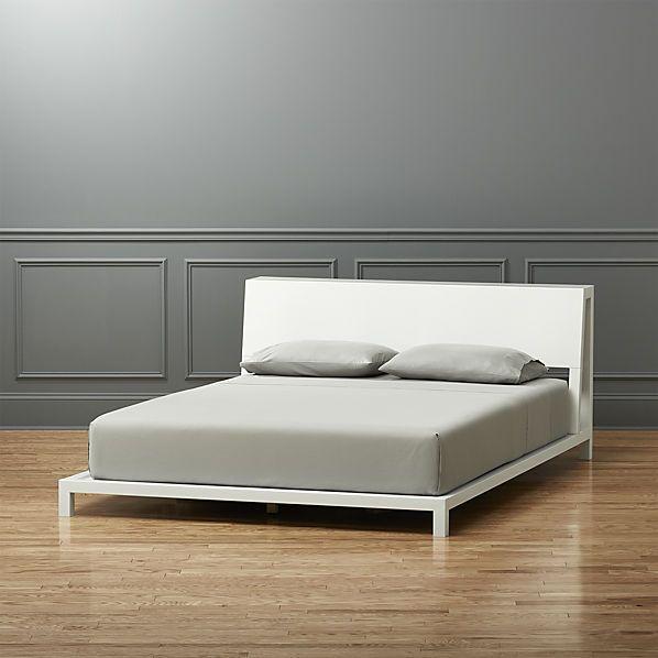 alpine white full bed  | CB2