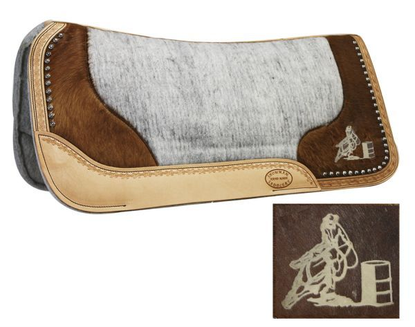 barrel racing pad | Barrel Racing Saddle Pads, Wool Saddle Pads