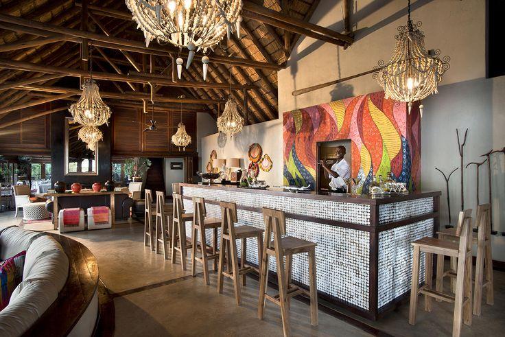 Royal Chundu River Lodge Bar area