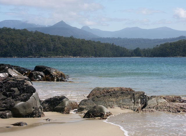 Australia, Tasmania. Cockle Creek, facing Antarctica, is the ...