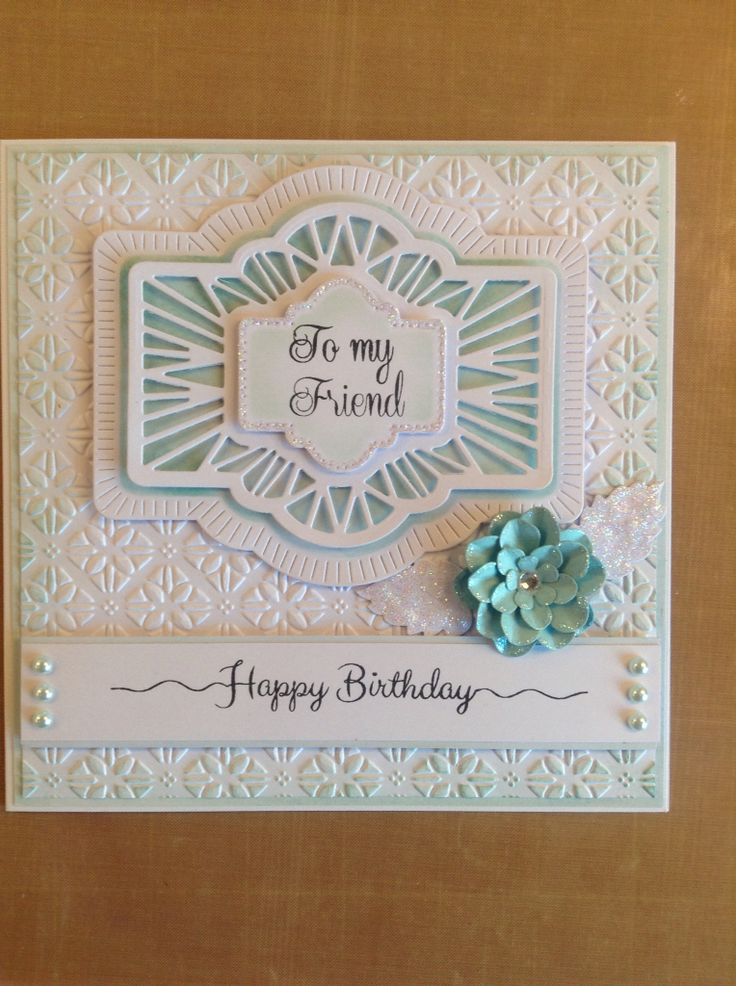 Card made using Phill Martin's stamps and Sue Wilson's dies and embossing folder