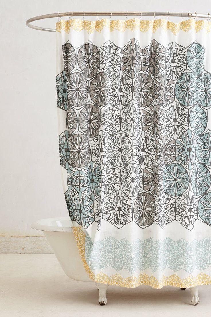 Anthropologie floral shower curtain - Kaleidoscope Patch Shower Curtain Anthropologie Com