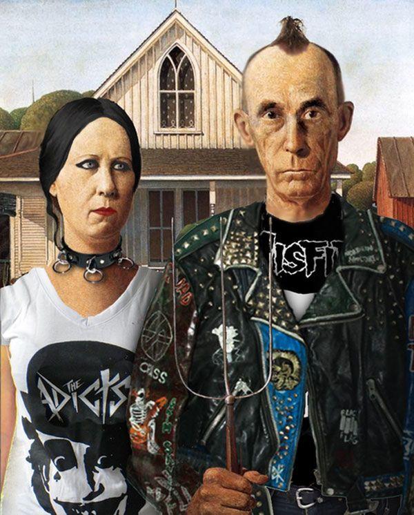 Gótico estadounidense punk. #humor #risa #graciosas #chistosas #divertidas