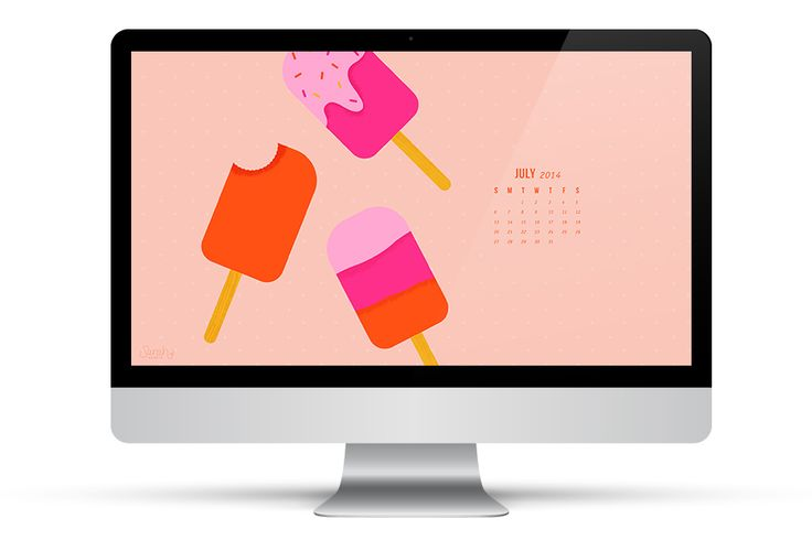 Get ready for summer with this free calendar wallpaper from @sarahhearts. Loving the colors used and the brightness of this wallpaper, available for computers and mobile devices! /ES