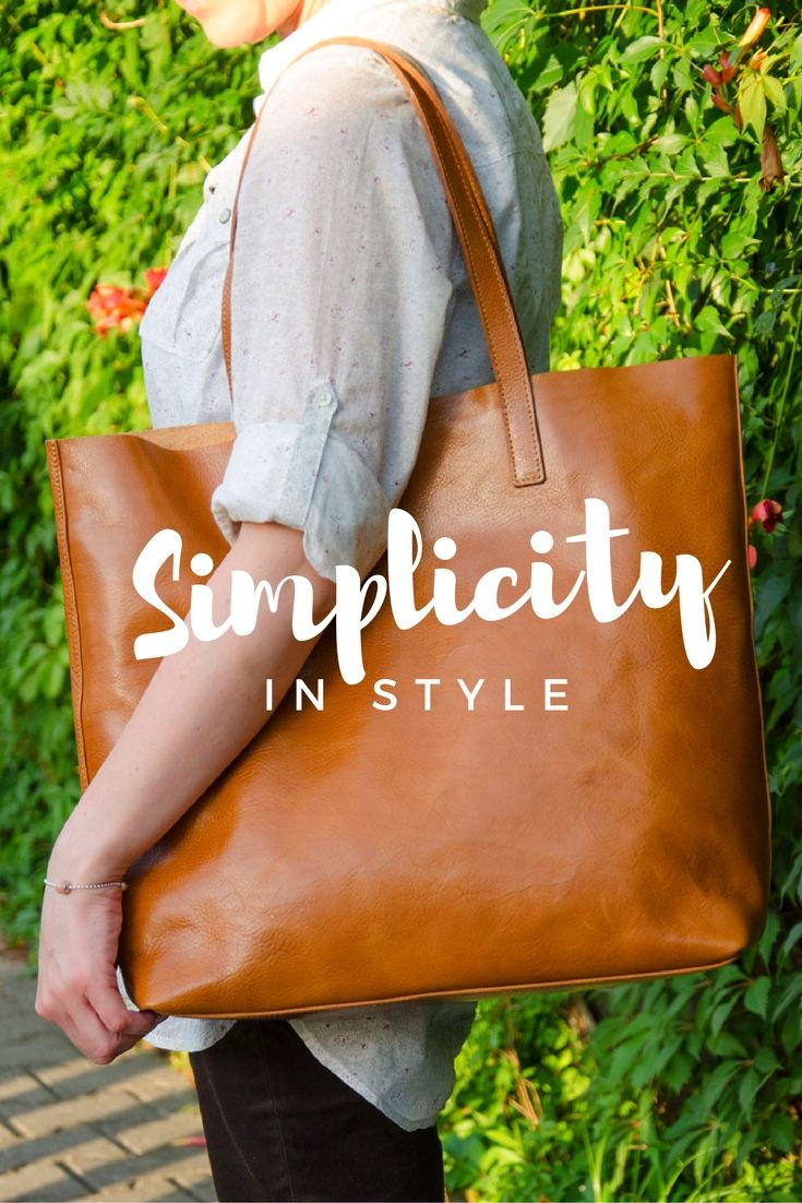 Handmade leather bag #simplicity #fashion