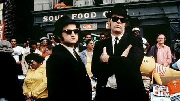 THE BLUES BROTHERS' (1980) --   Come for the car chases, stay for the riffs. John Belushi and Dan Aykroyd's stoic soul singers may h... - Universal