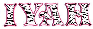 Hot Pink Black Zebra Print Painted Letters, Hot Pink Zebra Print Nursery, Hot Pink Zebra Print Kids Room Decor, Hot Pink Zebra Wall Art