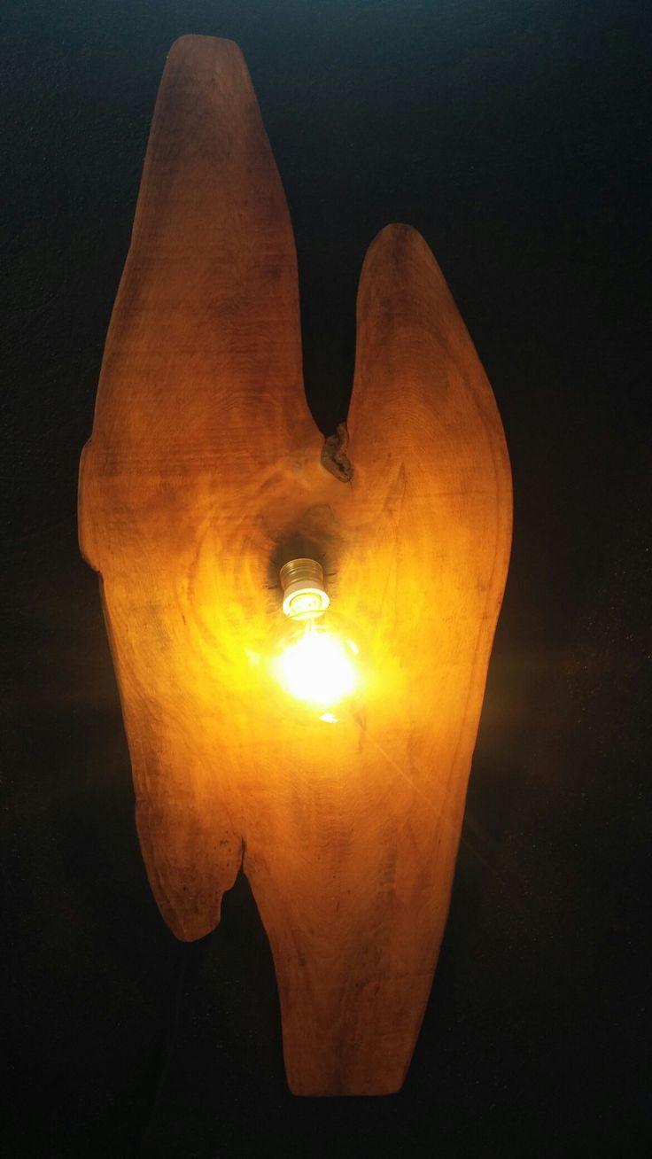 Sedir masif ahşap rustic aplik / Cedar wooden rustic light