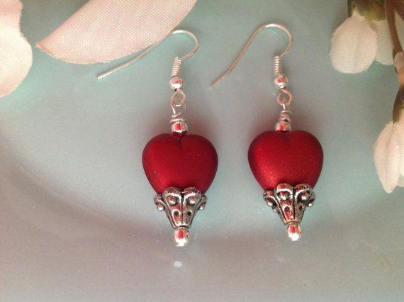 Valentine earrings Valentines jewelry by DakotaDesignsbyVicki