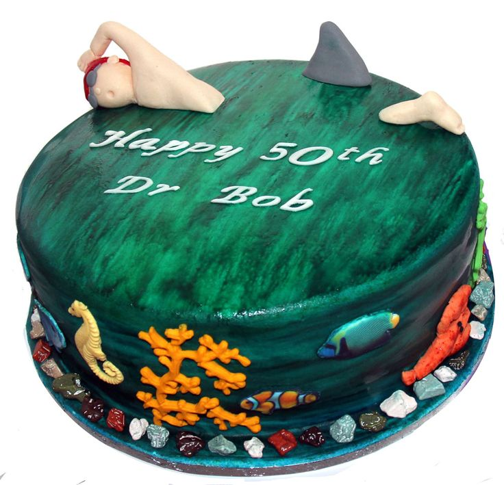 Ocean Swimmer Cake Like us at www.facebook.com/melianndesigns