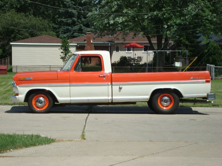 67 Ford F100 1971 F100 Lowered With Beams In Front Rear