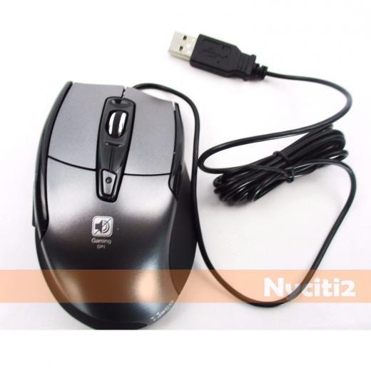 Jsco Jnl-101k Noiseless Silent Usb Optical Wheel Mouse For Pc Laptop Game Gaming Wired Black 1600 Adjustable Dpi Led Lighting