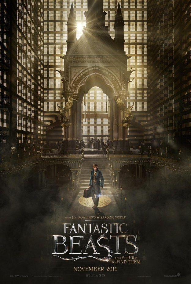 "There's also this new film poster to accompany it. | The ""Fantastic Beasts"" Teaser Trailer Has Finally Arrived"