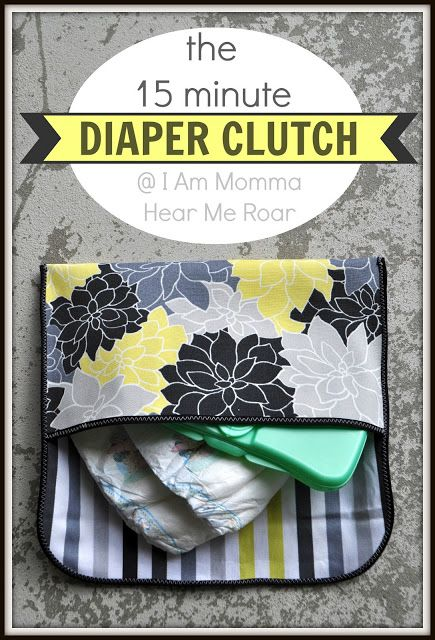 bias tape or sew right sides together, turn, topstitch, button/loop closure or velcro  I Am Momma - Hear Me Roar: the 15 Minute Diaper Clutch                                                                                                                                                                                 Mais