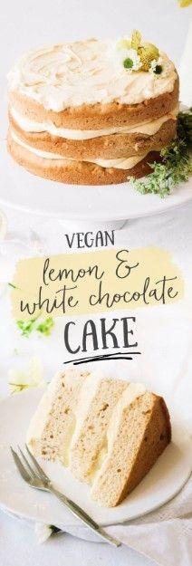 VEGAN ELDERFLOWER CAKE MIT LEMON CURD & WHITE CHOCOLATE FROSTING