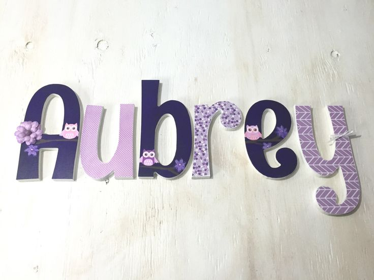 Girl's Owl Theme Letters - Girl's Nursery Letters - Owl Nursery - Baby Girl Letters - Nursery Name - Wooden Name Letters - Price Per Letter by LoveLettersForGracie on Etsy https://www.etsy.com/listing/471585246/girls-owl-theme-letters-girls-nursery