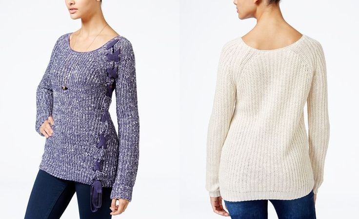 American Rag Lace-Up Sweater, Only at Macy's - Juniors Sweaters - Macy's