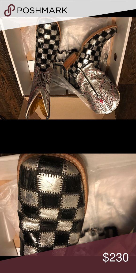 Ladies Marti gras tin haul boots 7.5 small scuff on toe tin haul Shoes