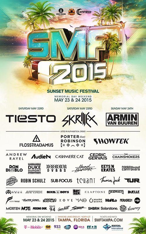 SUNSET MUSIC FESTIVAL 2015 Tickets, Tampa | Eventbrite