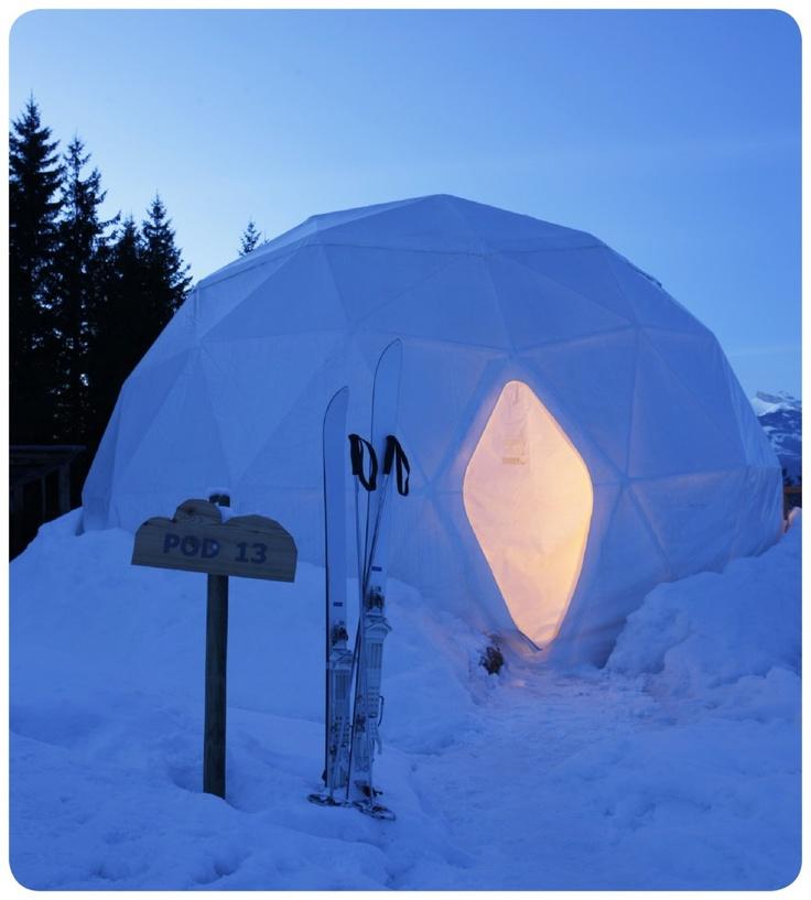 Whitepod Resort in Swiss Alps