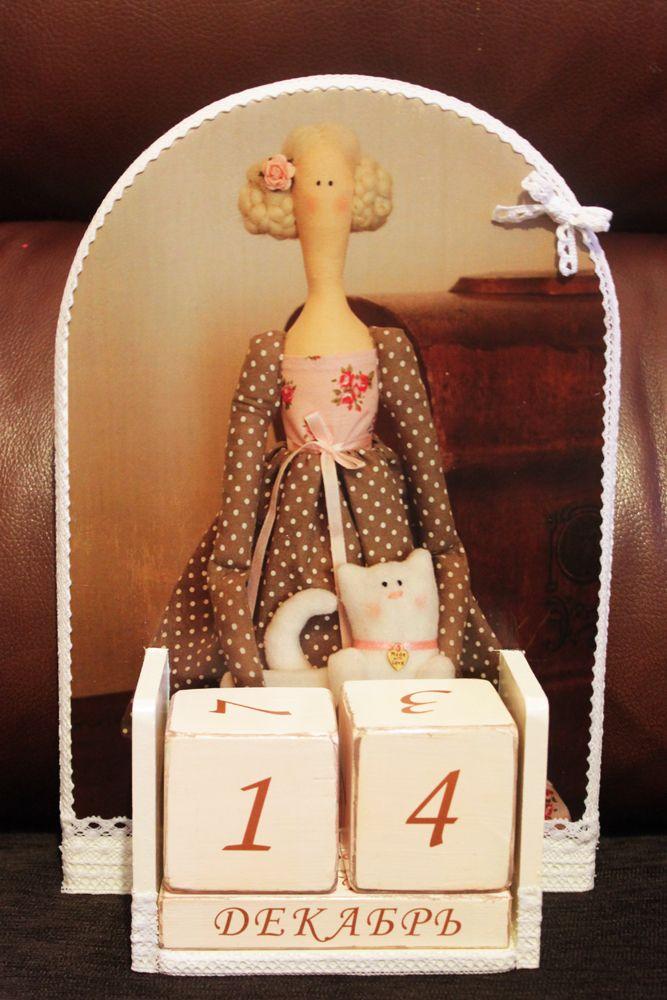 """Декупаж - Сайт любителей декупажа - DCPG.RU   Работы с кружевом: №71 Вечный календарь """"Девичьи мечты"""" Click on photo to see more! Нажмите на фото чтобы увидеть больше! decoupage art craft handmade home decor DIY do it yourself calendar acrylic paints varnish lace"""