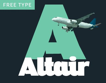 "Check out my @Behance project: ""Altair Typeface Family with Free Font"" https://www.behance.net/gallery/39601339/Altair-Typeface-Family-with-Free-Font"