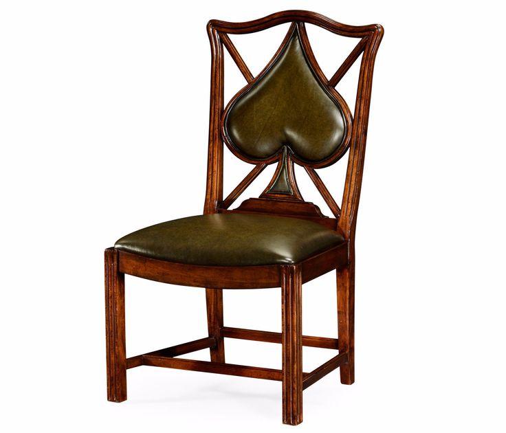 """English Walnut """"Spades"""" Sidechair"""
